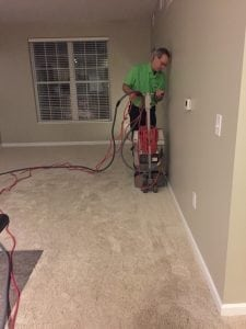 extracting water prior to odor removal