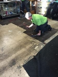 Removing floors for commercial emergency response