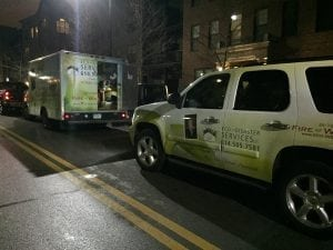 ECO Disaster Services, LLC vehicles for commercial structural drying